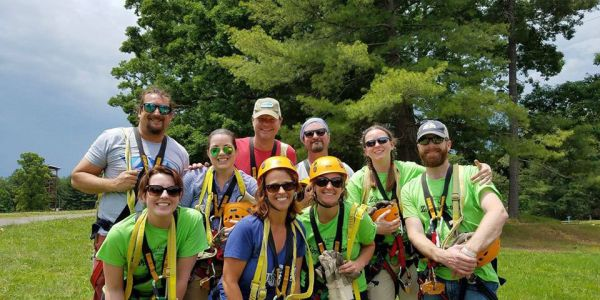 2020 Zipping for Autism (ZFA) – sponsored by the Adventure Center of Asheville